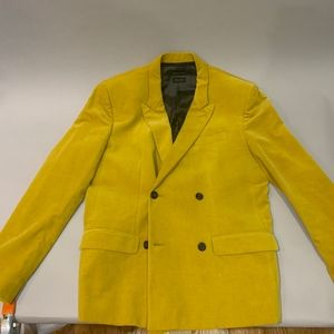 Marc Jacobs Collection Velvet Mustard Blazer